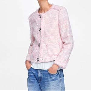 Zara pink structure blazer new